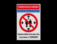 Samenscholingsverbod veiligheidsinstructies - ontwerp zelf