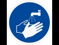 Vloersticker - Handen wassen