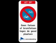 Let op - E1 fiets - eigen tekst - camerabewaking