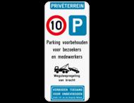 Parkeerbord Privéterrein C43-E9 + eigen tekst
