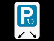 Parkeerbord Elektrisch opladen - pijlverwijzing