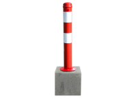 Parkeerpaal uitneembaar 750mm met betonvoet 295x295x350mm