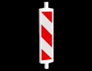 Geleidebaken BB35 type A rood wit (dubbelzijdig reflecterend klasse 1)