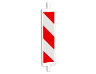 Geleidebaken type A rood wit (dubbelzijdig reflecterend klasse 1)