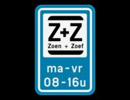 Parkeerbod Zoen&Zoef + eigen tekst