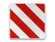 Markeringsbord vierkant rood/wit reflecterend
