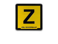 Informatiebord Zinkerbord zwart/geel + tekst
