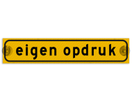 Autobord met zuignappen 500x100mm met eigen opdruk geel FLUOR