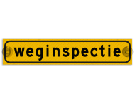 Autobord met zuignappen 500x100mm weginspectie geel FLUOR
