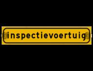 Autobord met zuignappen 375x75mm inspectievoertuig geel FLUOR