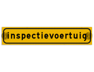 Autobord met zuignappen 500x100mm inspectievoertuig geel FLUOR