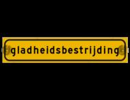 Autobord met zuignappen 500x100mm gladheidsbestrijding geel FLUOR