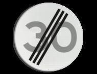 Verkeersbord RVV A02-30 - Einde maximum snelheid