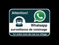 WhatsAppbord met jouw straatnaam - Franstalig