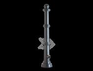 Trottoirpaal - type Emmen - antracietgrijs RAL 7016
