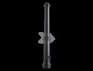 Trottoirpaal - type Apeldoorn - zwart RAL 9016 (mat)