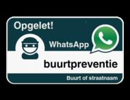 WhatsApp onderbord met jouw straatnaam