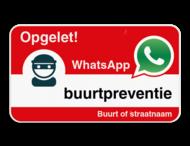 WhatsApp onderbord met eigen tekst - Rood