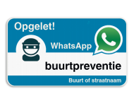 WhatsApp onderbord met eigen tekst - Blauw