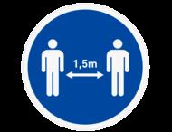 Vloersticker - Houd afstand