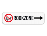 Routebord met pijl - Rookzone - Rookverbod