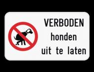Informatiebord - Verboden honden uit te laten