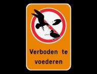 Informatiebord - Verboden te voederen