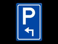 Verkeersbord RVV BW201 met aanpasbare pijlrichting