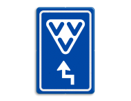 Verkeersbord RVV BW101 - VVV met aanpasbare pijlrichting