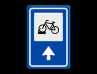 Verkeersbord RVV BW210 - Fietsenstalling met aanpasbare pijlrichting