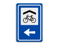 Verkeersbord RVV BW210 - Overdekte Fietsenstalling met aanpasbare pijlrichting
