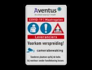 Waarschuwingsbord COVID-19 maatregelen met eigen logo