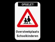 Verkeersbord - Oversteekplaats schoolkinderen - A23