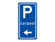 Verkeersbord RVV BW203l met aanpasbare pijlrichting