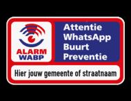 WABP onderbord 2x1 met eigen tekst