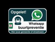 WABP WhatsAppbord met jouw straatnaam