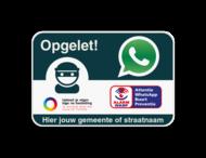 WABP WhatsAppbord met jouw straatnaam en logo
