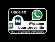 WABP WhatsAppbord met jouw straatnaam - zwart