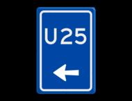 Verkeersbord RVV BW501l - U-bord