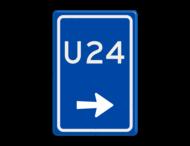 Verkeersbord RVV BW501r - U-bord