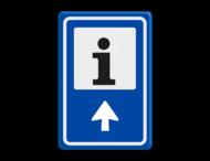 Verkeersbord RVV BW101S104 - Informatiepuntverwijzing met aanpasbare pijlrichting