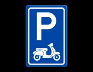 Verkeersbord E08 parkeerplaats scooters