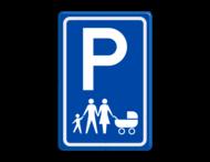 Verkeersbord E08 parkeerplaats gezin