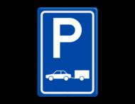 Verkeersbord E08 - Parkeerplaats auto's met aanhanger