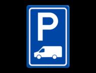 Verkeersbord RVV E08p - parkeerplaats transporter busje