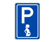 Verkeersbord RVV E08x - Zwangere vrouwen - BT11