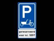 Verkeersbord RVV E08 bakfiets + ondertekst