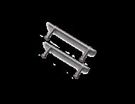 Beugelset spijlen- / draadhek staal (set 2 stuks)