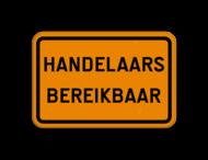 Verkeersbord SB250 F39 - Omleiding - Handelaars bereikbaar