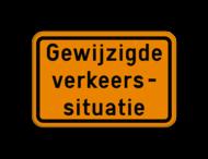 Verkeersbord SB250 F39 - Gewijzigde verkeerssituatie